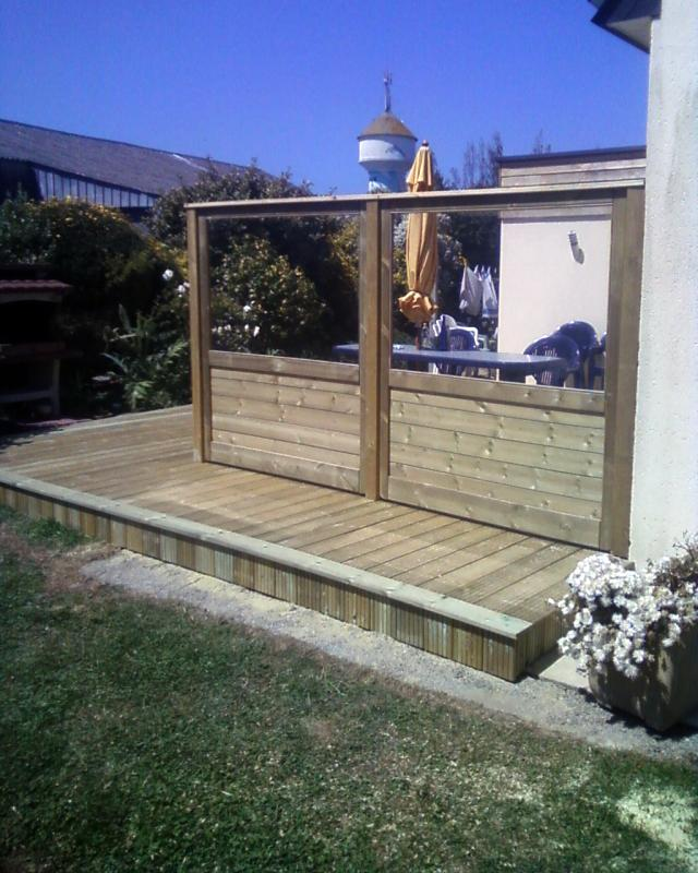 Palissade et terrasse bois